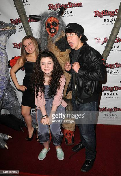 Actress Katelyn Bushnell actress Alex Ann Hopkins and actor Noah Dahl arrive for the Wrap Party For SYFY Networks' Monster Man Season 2 held at...