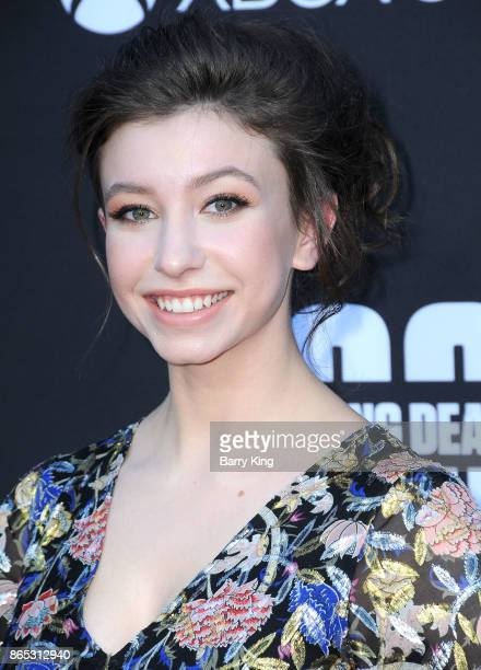 Actress Katelyn Nacon attends AMC Celebrates The 100th Episode Of 'The Walking Dead' at The Greek Theatre on October 22 2017 in Los Angeles California
