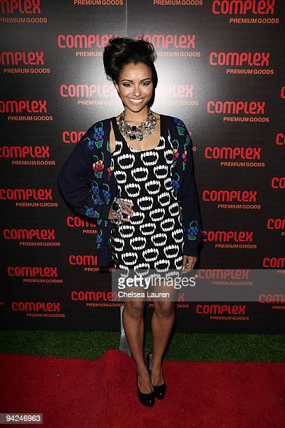 Actress Katerina Graham arrives at the 2009 Complex Premium Goods Event at MyHouse Nightclub on December 9 2009 in Hollywood California