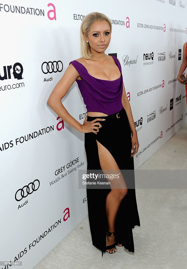 Actress Katerina Graham attends Chopard at 21st Annual Elton John AIDS Foundation Academy Awards Viewing Party at West Hollywood Park on February 24, 2013 in West Hollywood, California.