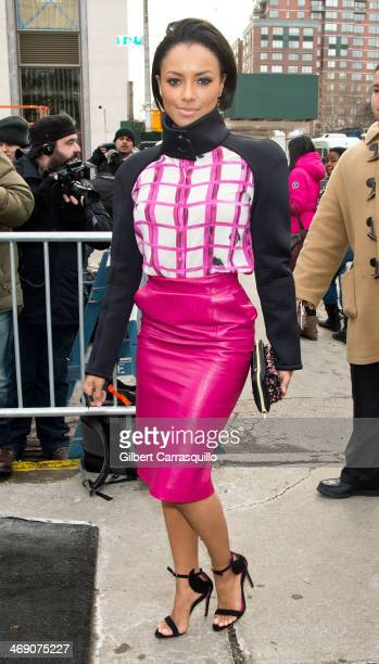 Actress Katerina Graham seen during Fall 2014 Mercedes Benz Fashion Week on February 12 2014 in New York City