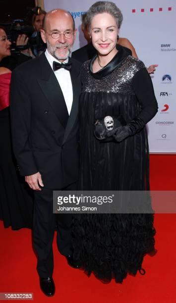Actress Katerina Jacob and her husband Jochen Neumann attend the Diva Award 2011 at Hotel Bayerischer Hof on January 25, 2011 in Munich, Germany.