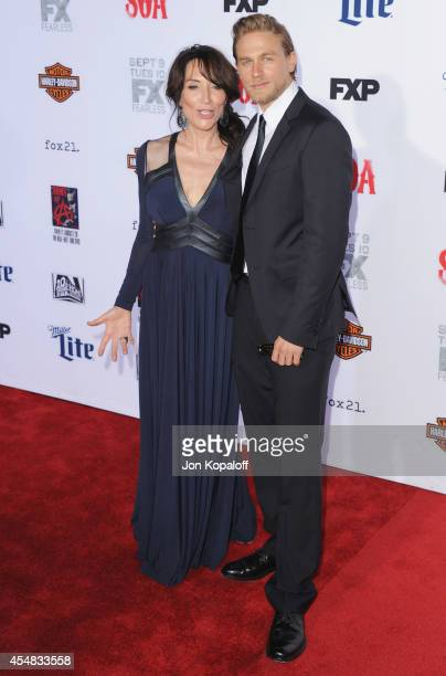 Actress Katey Sagal and actor Charlie Hunnam arrive at FX's 'Sons Of Anarchy' Premiere at TCL Chinese Theatre on September 6 2014 in Hollywood...