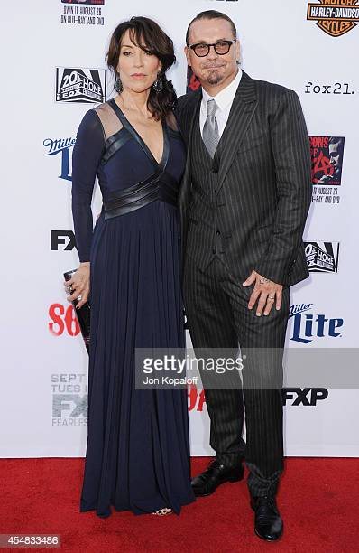 Actress Katey Sagal and creator Kurt Sutter arrive at FX's 'Sons Of Anarchy' Premiere at TCL Chinese Theatre on September 6 2014 in Hollywood...