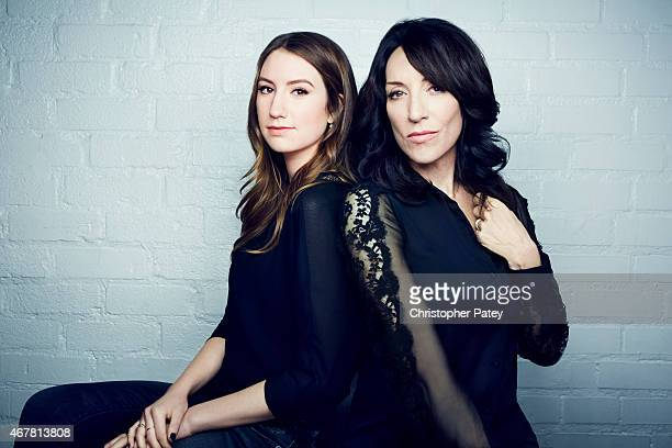 Actress Katey Sagal and daughter Sarah White is photographed for The Hollywood Reporter on November 23 2014 in Los Angeles California