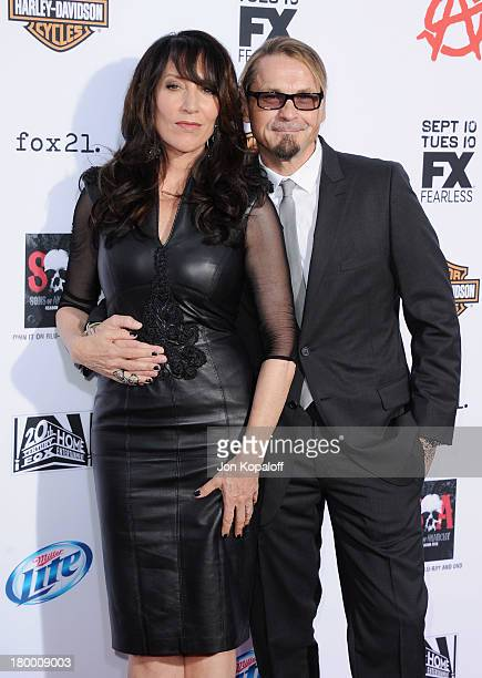 Actress Katey Sagal and husband Kurt Sutter arrive at FX's Sons Of Anarchy Season 6 Premiere Screening at Dolby Theatre on September 7 2013 in...