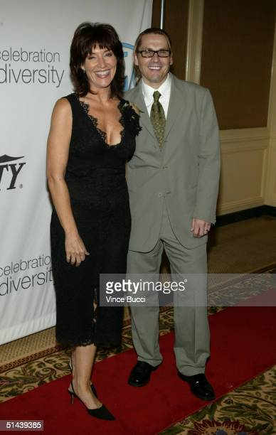 Actress Katey Sagal and husband Kurt Sutter arrive at The Producers Guild of America's 3rd Annual Celebration of Diversity at the Regent Beverly...