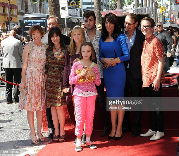 Actress Katey Sagal and husband Kurt Sutter with family at Katey Sagal's Star Ceremony on the Hollywood Walk Of Fame on September 9 2014 in Hollywood...
