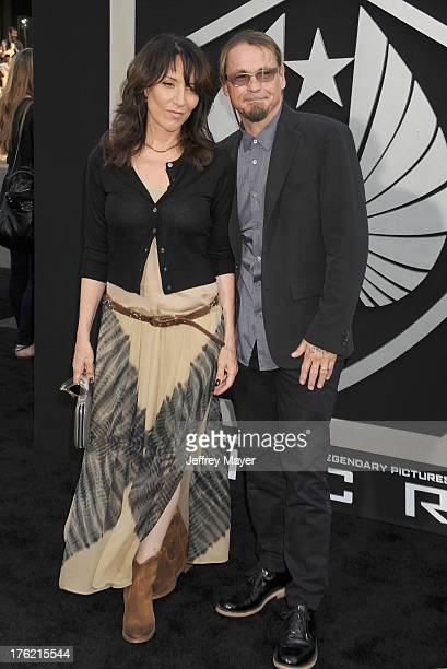 Actress Katey Sagal and husband writer Kurt Sutter arrive at the 'Pacific Rim' - Los Angeles Premiere at Dolby Theatre on July 9, 2013 in Hollywood,...