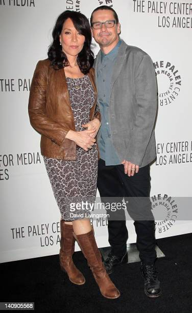 Actress Katey Sagal and husband writer/producer Kurt Sutter attend The Paley Center for Media's PaleyFest 2012 honoring Sons of Anarchy at Saban...