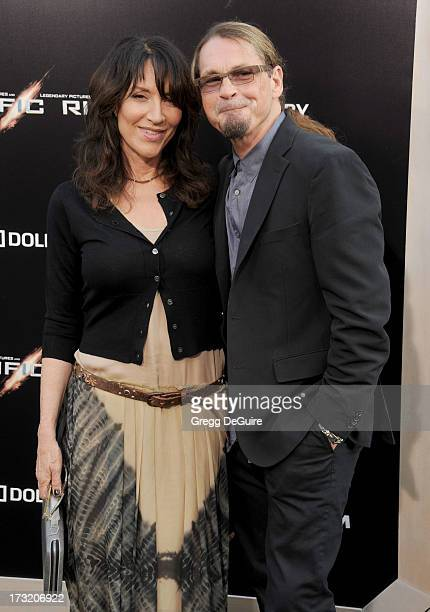 Actress Katey Sagal and husband/producer Kurt Sutter arrive at the Los Angeles premiere of 'Pacific Rim' at Dolby Theatre on July 9 2013 in Hollywood...