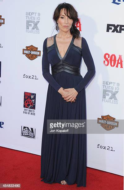 Actress Katey Sagal arrives at FX's 'Sons Of Anarchy' Premiere at TCL Chinese Theatre on September 6 2014 in Hollywood California