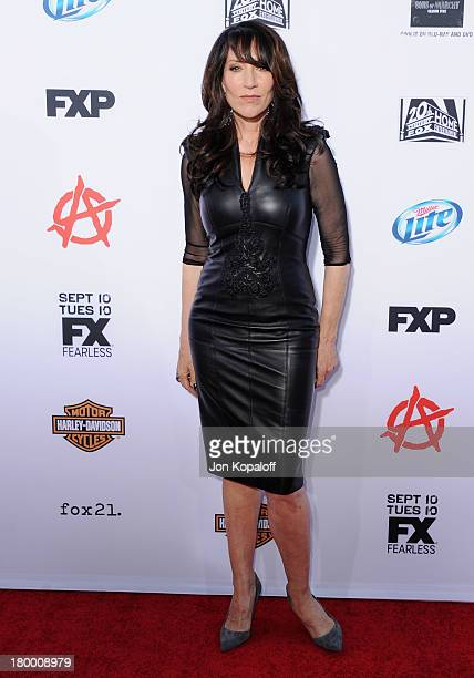 Actress Katey Sagal arrives at FX's Sons Of Anarchy Season 6 Premiere Screening at Dolby Theatre on September 7 2013 in Hollywood California