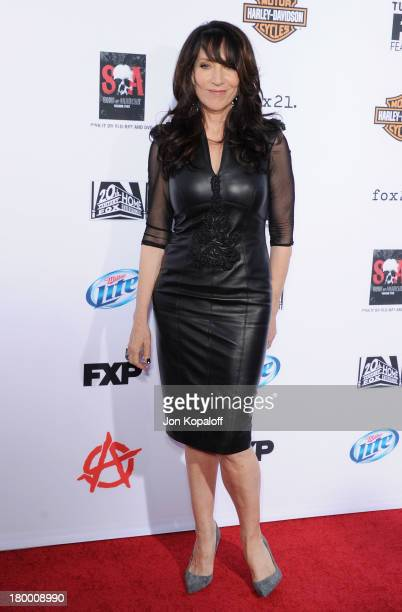 Actress Katey Sagal arrives at FX's 'Sons Of Anarchy' Season 6 Premiere Screening at Dolby Theatre on September 7 2013 in Hollywood California