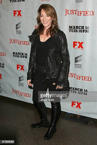Actress Katey Sagal arrives at the 'Justified' Premiere Screening at the Directors Guild Theatre on March 8 2010 in Los Angeles California