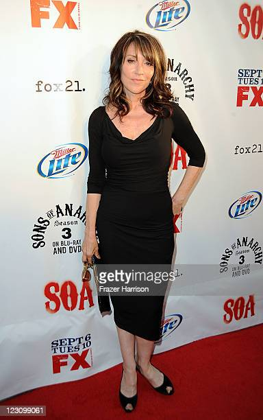 Actress Katey Sagal arrives at the Screening of FX's Sons Of Anarchy Season 4 Premiere at ArcLight Cinemas Cinerama Dome on August 30 2011 in...