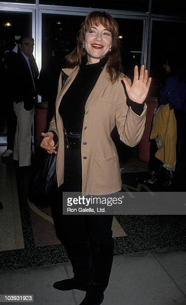 Actress Katey Sagal attending the premiere of 'No Place Like Home' on November 27 1989 at Laemmle's Music Hall 3 in Beverly Hills Caliornia