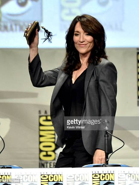 Actress Katey Sagal attends Entertainment Weekly Women Who Kick Ass panel and presentation and presentation during ComicCon International 2014 at San...