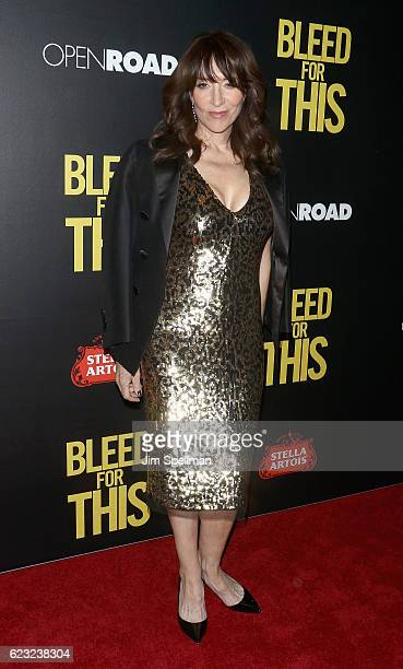 Actress Katey Sagal attends the premiere of 'Bleed For This' hosted by Open Road with Men's Fitness at AMC Lincoln Square Theater on November 14 2016...