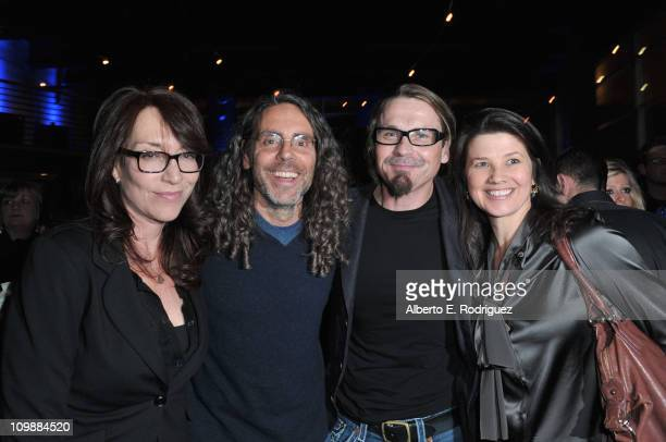Actress Katey Sagal director Tom Shadyac producer Kurt Sutter and actress Daphne Zuniga attend the after party for the premiere of Shady Acres...