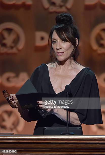 Actress Katey Sagal speaks onstage at the 67th Annual Directors Guild Of America Awards at the Hyatt Regency Century Plaza on February 7 2015 in...