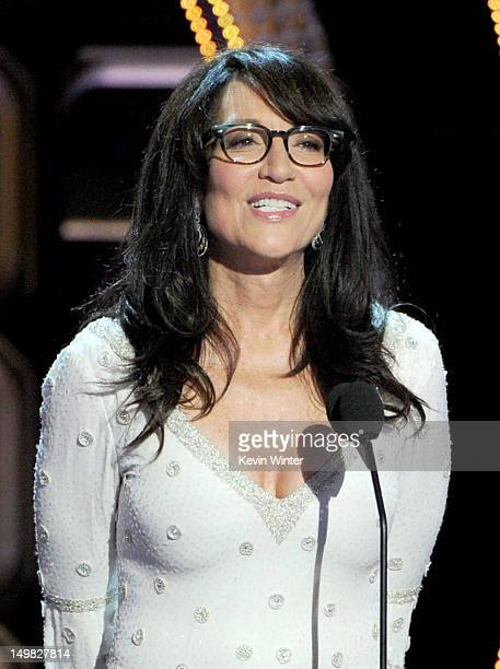 Actress Katey Sagal speaks onstage during the Comedy Central Roast of Roseanne Barr at Hollywood Palladium on August 4 2012 in Hollywood California