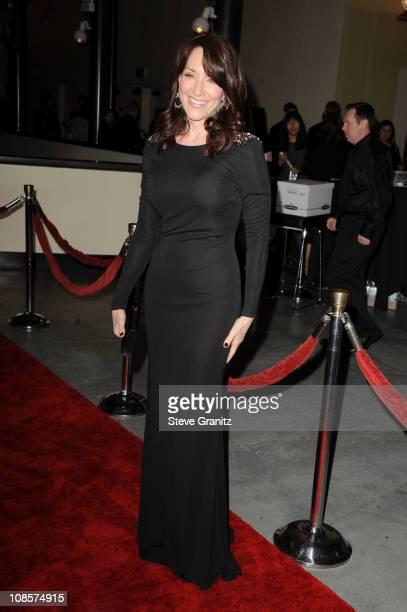 Actress Katey Sagalarrives at the 63rd Annual DGA Awards held at the Grand Ballroom at Hollywood Highland Center on January 29 2011 in Hollywood...