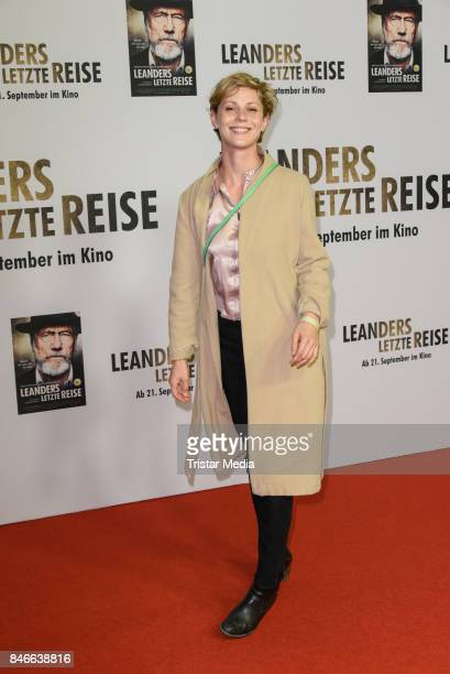 Actress Katharina Schlothauer attends the 'Leanders Letzte Reise' Premiere at Kino in der Kulturbrauerei on September 13 2017 in Berlin Germany