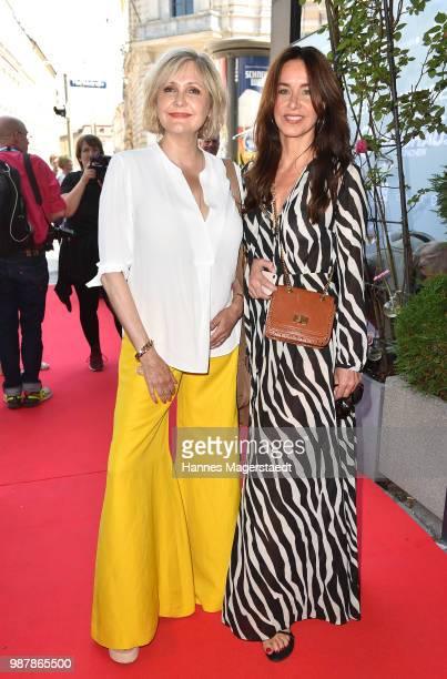 Actress Katharina Schubert and Katharina MuellerElmau attend the 'Sommerfest der Agenturen' during Munich Film Festival 2018 at Hugo's on June 30...