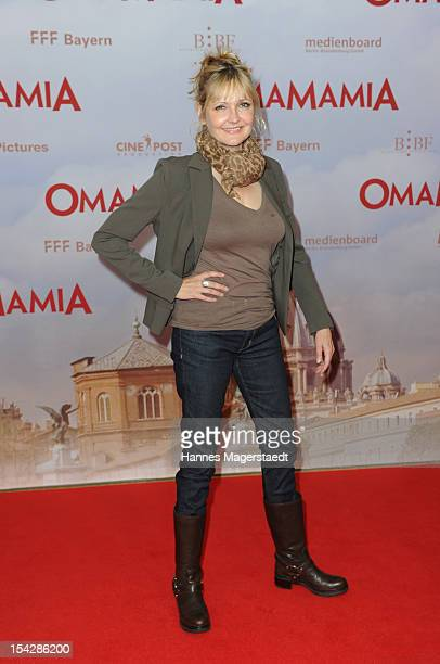 Actress Katharina Schubert attends the 'Omamamia' Germany Premiere at the Mathaeser Filmpalast on October 17 2012 in Munich Germany