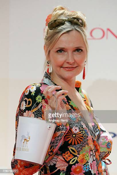 Actress Katharina Schubert attends the Tribute to Bambi charity gala traditionally held a night before the annual Bambi Awards on November 29 2006 in...