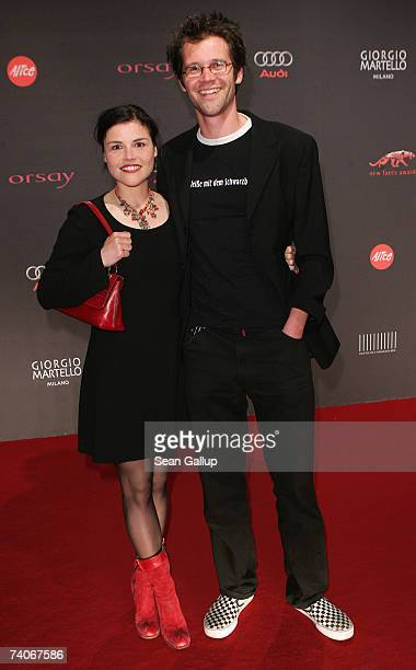 Actress Katharina Wackernagel and friend Jonas Grosch attend the New Faces Award at the Berlin Congress Center May 3 2007 in Berlin Germany