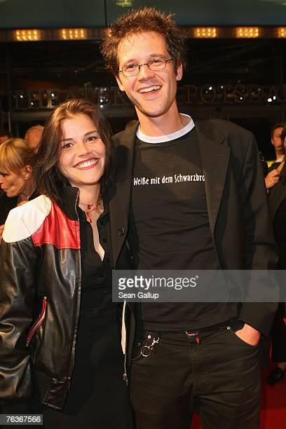 Actress Katharina Wackernagel and friend Jonas Grosch attend the First Steps Award at the Theater am Potsdamer Platz August 28 2007 in Berlin Germany