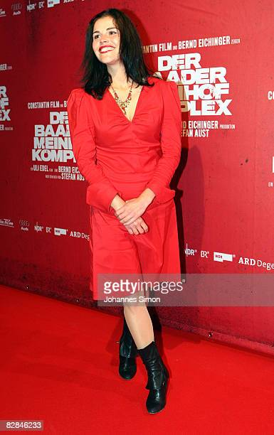 Actress Katharina Wackernagel attends the 'The Baader Meinhof Complex' German Premiere at Mathaeser Cinema on September 16 2008 in Munich Germany The...