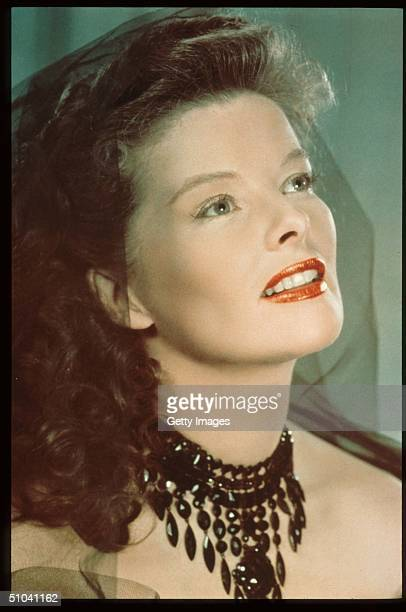 Actress Katharine Hepburn Sits In USA Hepburn Received Four Oscars For Best Actress In The Span Of A Sixty Year Career