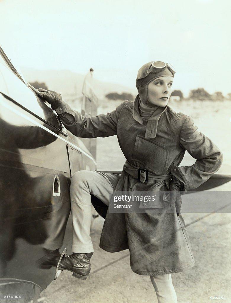 Katharine Hepburn as Aviatrix : News Photo