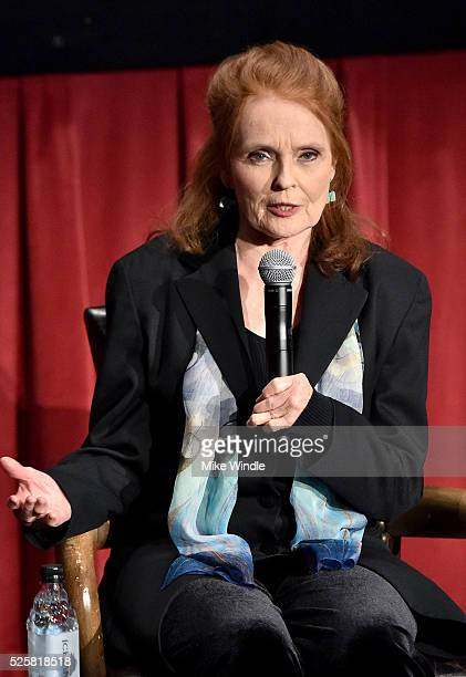 Actress Katharine Houghton speaks onstage at 'Guess Who's Coming To Dinner' screening during day 1 of the TCM Classic Film Festival 2016 on April 28...