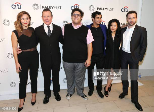 Actress Katharine McPhee actors Robert Patrick Ari Stidham and Elyes Gabel actress Jadyn Wong and actor Eddie Kaye Thomas attend The Paley Center for...