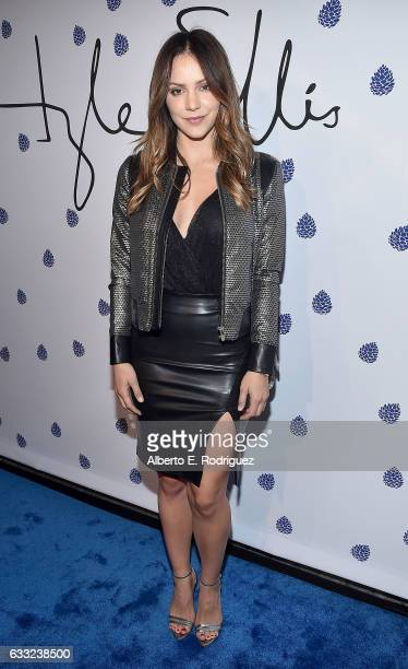 Actress Katharine McPhee arrives as Tyler Ellis celebrates 5th Anniversary and launch of Tyler Ellis x Petra Flannery Collection at Chateau Marmont...