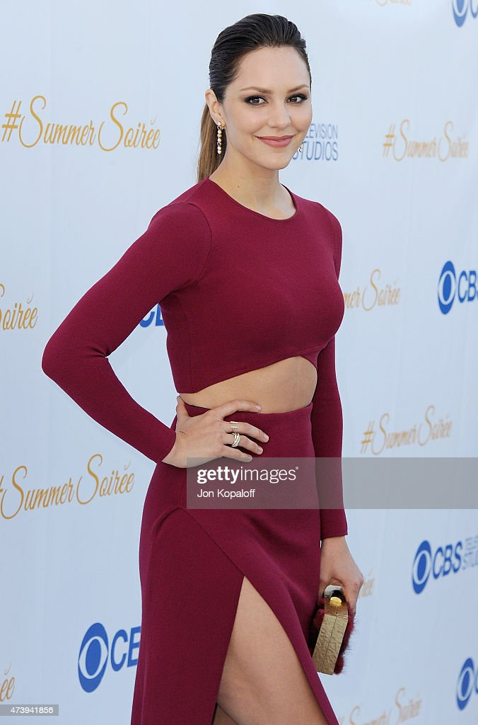 Actress Katharine McPhee arrives at CBS Television Studios 3rd Annual Summer Soiree Party at The London Hotel on May 18, 2015 in West Hollywood, California.