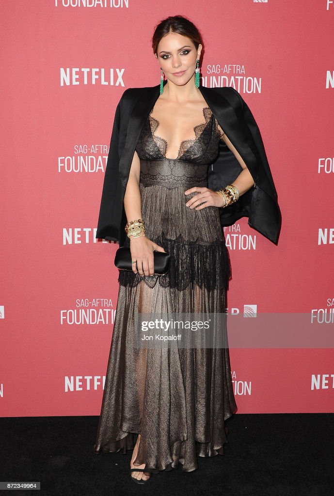Actress Katharine McPhee arrives at SAG-AFTRA Foundation Patron of the Artists Awards 2017 on November 9, 2017 in Beverly Hills, California.