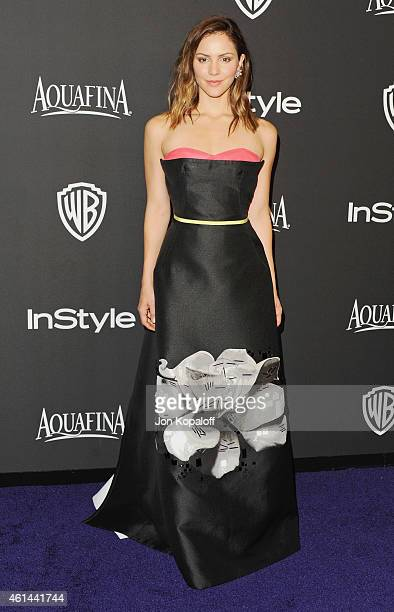 Actress Katharine McPhee arrives at the 16th Annual Warner Bros And InStyle PostGolden Globe Party at The Beverly Hilton Hotel on January 11 2015 in...