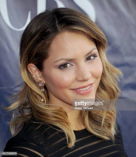 Actress Katharine McPhee arrives at the 2014 Television Critics Association Summer Press Tour CBS CW And Showtime Party at Pacific Design Center on...