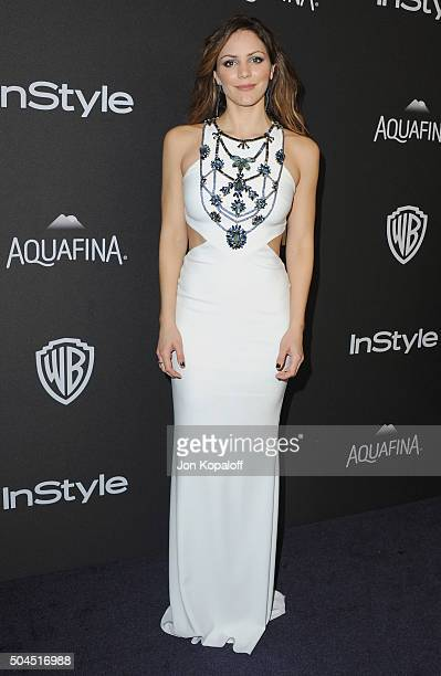 Actress Katharine McPhee arrives at the 2016 InStyle And Warner Bros 73rd Annual Golden Globe Awards PostParty at The Beverly Hilton Hotel on January...