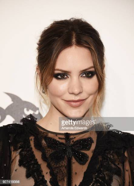 Actress Katharine McPhee arrives at the 26th Annual Elton John AIDS Foundation's Academy Awards Viewing Party on March 4 2018 in West Hollywood...