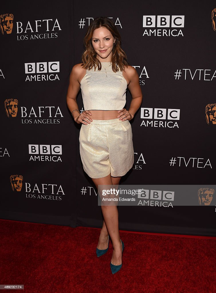 Actress Katharine McPhee arrives at the BAFTA Los Angeles TV Tea 2015 at the SLS Hotel on September 19, 2015 in Beverly Hills, California.