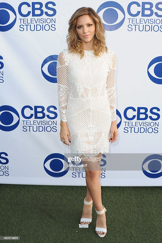 Actress Katharine McPhee arrives at the CBS Summer Soiree at The London West Hollywood on May 19, 2014 in West Hollywood, California.