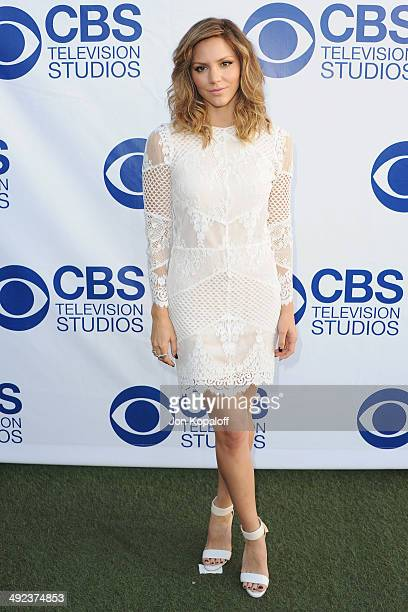 Actress Katharine McPhee arrives at the CBS Summer Soiree at The London West Hollywood on May 19 2014 in West Hollywood California