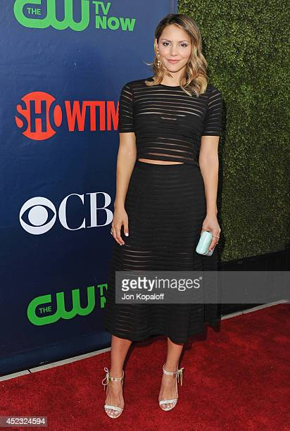 Actress Katharine McPhee arrives at the CBS, The CW, Showtime & CBS Television Distribution 2014 Television Critics Association Summer Press Tour at...