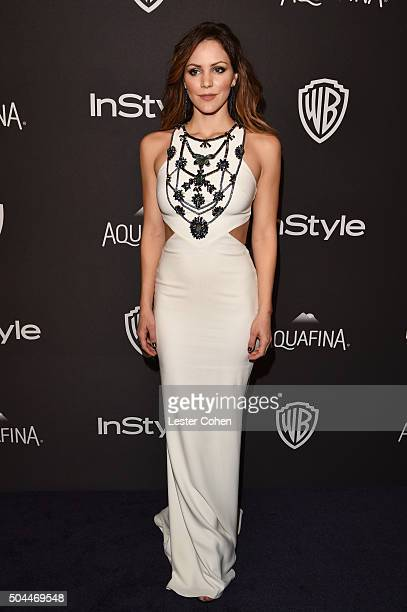 Actress Katharine McPhee attends InStyle and Warner Bros 73rd Annual Golden Globe Awards PostParty at The Beverly Hilton Hotel on January 10 2016 in...